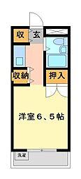 メゾン・ド・武蔵野 学生専用[2階]の間取り