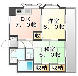 サン・オーレ久松 JA[3階]の間取り