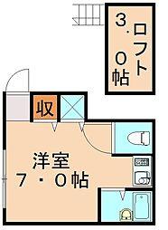 福岡県飯塚市西町の賃貸アパートの間取り