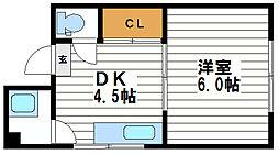 マンション藤[3階]の間取り