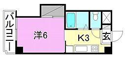 エトワール福音寺[308 号室号室]の間取り