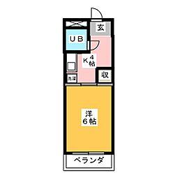 佐々木ビル[3階]の間取り