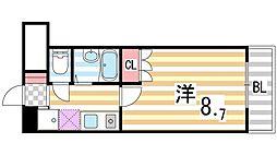 シャンテ三船II[308号室]の間取り