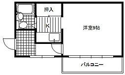 植田ビル[3階]の間取り