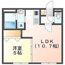仮)グランメール平岸3-1 4階1LDKの間取り