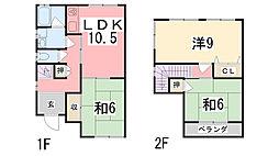 [一戸建] 兵庫県姫路市御立東 の賃貸【/】の間取り