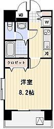東京都目黒区中目黒2丁目の賃貸マンションの間取り