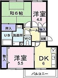 ビューテラス[3階]の間取り