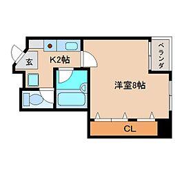 静岡県静岡市清水区銀座の賃貸マンションの間取り