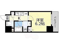 名古屋市営東山線 新栄町駅 徒歩9分の賃貸マンション 3階1Kの間取り