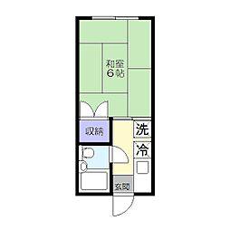 清風荘[206号室]の間取り