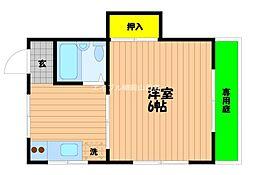 岡山県岡山市北区西之町の賃貸アパートの間取り
