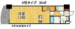 ロイヤルノースナイン[15階]の間取り