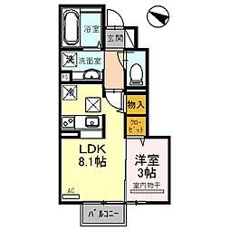 仮)D-room鞍手[1階]の間取り