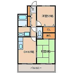 兵庫県尼崎市長洲本通1丁目の賃貸マンションの間取り