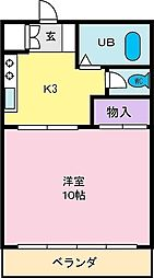 フォレスト宮前[1階]の間取り