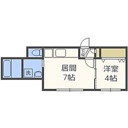 KRAVICE北円山[3階]の間取り