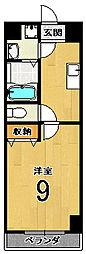 京都府京都市南区久世上久世町の賃貸マンションの間取り