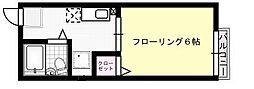 シティハイム平山[101号室]の間取り