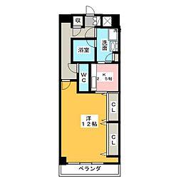 アリビオ鶴舞[6階]の間取り