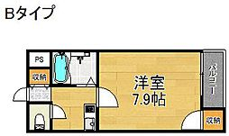 コスモレジデンス住之江[4階]の間取り