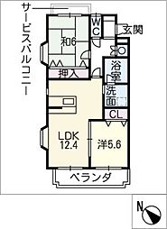 Astriea[1階]の間取り