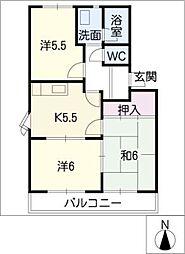 コスモ93[1階]の間取り