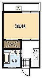 第2笹コーポ[402号室]の間取り
