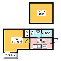 グリーンリーフ豊田本町[2階]の間取り