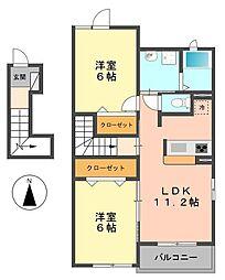 東京都葛飾区奥戸5丁目の賃貸アパートの間取り