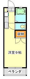 千葉県千葉市中央区大森町の賃貸マンションの間取り