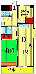 埼玉県川口市長蔵2丁目の賃貸マンションの間取り