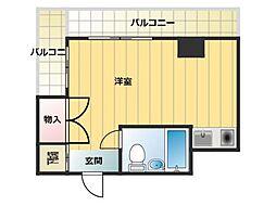 兵庫県神戸市中央区八雲通4丁目の賃貸マンションの間取り