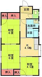 [一戸建] 神奈川県相模原市中央区上溝 の賃貸【/】の間取り