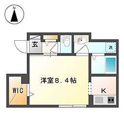 M6善光寺下[1階]の間取り