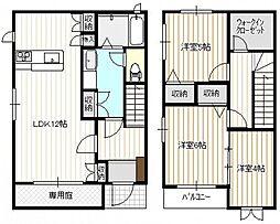 [タウンハウス] 広島県広島市西区高須台1丁目 の賃貸【/】の間取り