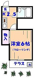 エスポワール21B棟[103号室]の間取り