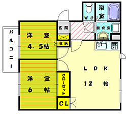 レークサイドヴィラ3[2階]の間取り