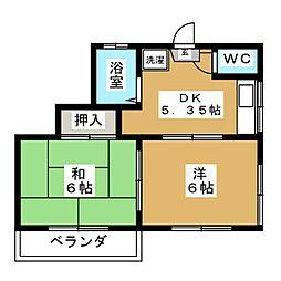 守屋アパート[2階]の間取り