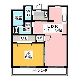 シャトレ八番館[2階]の間取り