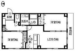 パルテール船木[2階]の間取り