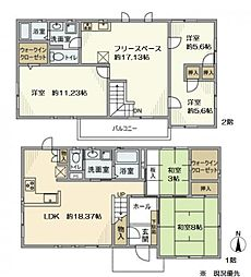 [一戸建] 神奈川県横浜市都筑区平台 の賃貸【/】の間取り