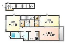 グランメゾンA棟[2階]の間取り