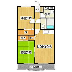 アライマンション[3階]の間取り