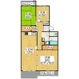 東大路高野第3住宅 33棟[402号室]の間取り