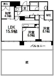 フォートレスゲート新札幌レジデンス[109号室]の間取り