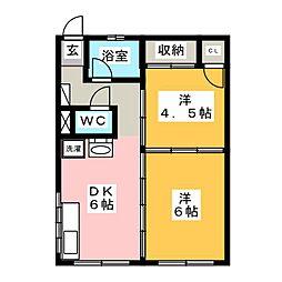 名豊第1ビル[4階]の間取り