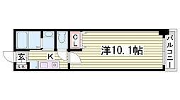 レジディア三宮東[303号室]の間取り
