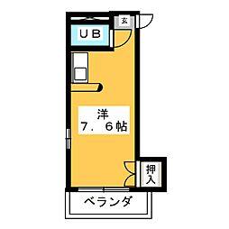 ジュネパレス稲沢 第1[1階]の間取り