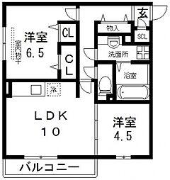 (仮称)D-room吉田[101号室号室]の間取り
